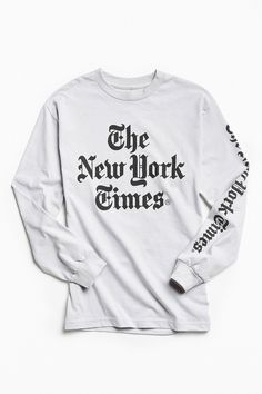 Slide View: 1: Altru Apparel New York Times Long Sleeve Tee