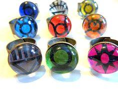Handmade Lantern Corps Rings Are Like Mood Rings for Geeks!