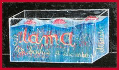 """Lama (your body's a chemical disaster area"", 19.5"" x 33.5"", oil and acrylic on wood, ©1999/2002 by steve sas schwartz"