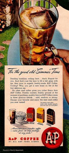ap iced coffee for summer 1947 ad