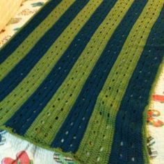 Green and Blue Afghan