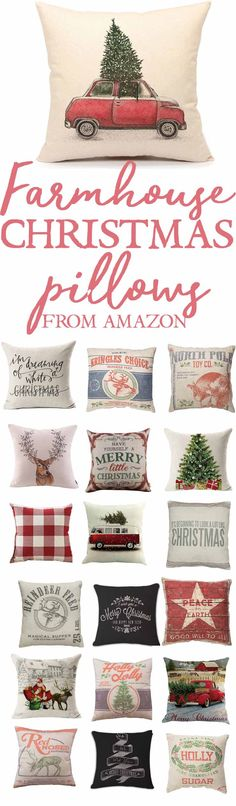 Farmhouse Style Christmas Pillows-Farmhouse Christmas Pillows-Farmhouse Decor-Farmhouse Christmas Decor-Farmhouse Amazon Decor Finds-www.themountainviewcottage.net.jpg