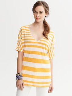 Striped Dolman-Sleeve Shirt | Banana Republic