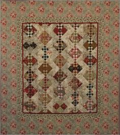 Beautiful quilt kit from Piece Keepers using a bit of Mary Rose in the setting triangles.