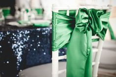 Modern Elegant Emerald and Navy Wedding... i might actually like this color combo