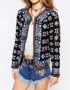 Glamorous | Glamorous Folk Embroidered Trophy Jacket at ASOS