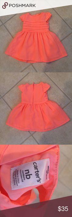 NWOT Carter's Neon Pink Dress NWOT neon pink Carter's dress size nb *Always open to offers! 😊* Carter's Dresses Formal