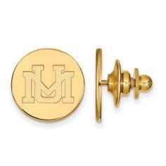 Sterling Silver w/GP LogoArt University of Montana Lapel Pin
