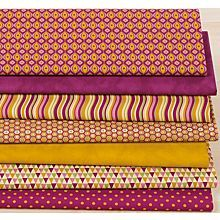 Patchwork- und Quiltpaket 'Retro fuchsia/curry'