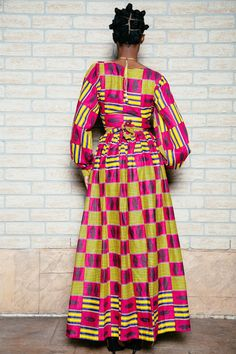 African print wrap dress by ofuure on Etsy