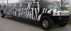 Zebra print Limo- i want to leave my wedding in this! :D