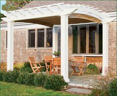 Pergola, Arched, Square Column, with Canopy from Walpole Woodworkers | Walpole Outdoors