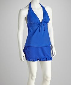 Look what I found on #zulily! Royal Blue Skirted Tankini by Tropical Escape #zulilyfinds