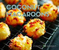 Coconut doesn't get any better than when it's packaged in a cute little delicious macaroon. #dessert #macaroons #lowcarb