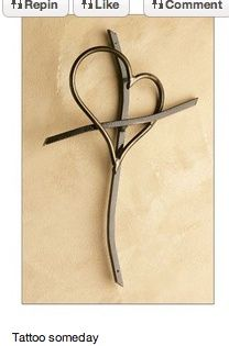 +pinterest cross tatoo | Piece De Resistance / heart cross tatoo..this will be what I get