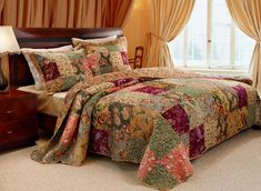 Greenland Home Fashions Antique Chic Multi Colored King Size Quilt Set, 3-Piece