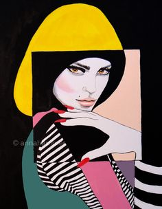 Inspired by Patrick Nagel