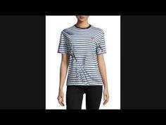 Best Price McQ Alexander McQueen Short-Sleeve Classic Striped Tee, Black...