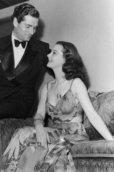 Leigh, seen here at the Oscars ceremony in 1940 with Laurence Olivier (whom she would later marry), won the Best Actress Oscar that night for her iconic portrayal of Scarlett O'Hara in Gone With The Wind.