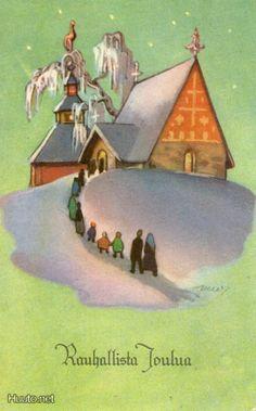 Martta Wendelin Vintage Christmas Cards, Retro Christmas, Xmas Cards, Christmas Greetings, Very Merry Christmas, Winter Solstice, Old Toys, Helsinki, Christmas Inspiration