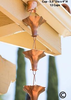 My wife has been talking about getting a rain chain for a long time. She wants one for our porch area. I think she would really like the copper color of this one, and the shape is cool. I will show her this!