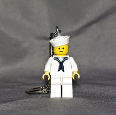 Sailor LEGO key chain by boxhounds on Etsy, $10.00