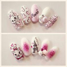 """""""Because I'm a lady! Nail Art Disney, Disney Acrylic Nails, Best Acrylic Nails, Nail Art Designs Videos, Fall Nail Art Designs, Acrylic Nail Designs, Classy Nails, Cute Nails, Pretty Nails"""