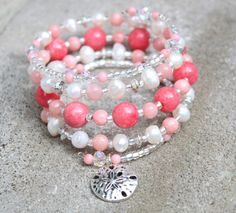 Check out this item in my Etsy shop https://www.etsy.com/listing/240473257/pink-coral-and-freshwater-pearl-memory