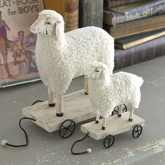 sheep pull toys