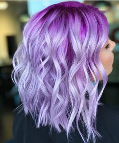 Ninja cosmico ombre purple hair, pink hair colors, lilac hair, blue hair, p Exotic Hair Color, Hair Color Purple, Hair Dye Colors, Cool Hair Color, Purple Ombre, Purple Bob, Pastel Purple, Pastel Ombre Hair, Violet Hair Colors