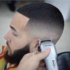 Buzz Cut + Edge Up + High Skin Fade