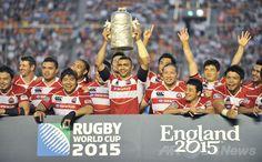 ラグビーHSBCアジア5か国対抗(HSBC Asian Five Nations 2014)、日本対香港。W杯出場を喜ぶ日本の選手(2014年5月25日撮影)。(c)AFP/KAZUHIRO NOGI ▼26May2014AFP|日本がアジア5か国対抗7連覇、W杯出場決める http://www.afpbb.com/articles/-/3015860 #Asian_Five_Nations #Rugby #Japan_Hong_Kong