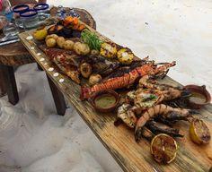 Feast on the beach.