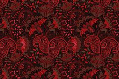 Red seamless pattern by Sunny_Lion on Creative Market