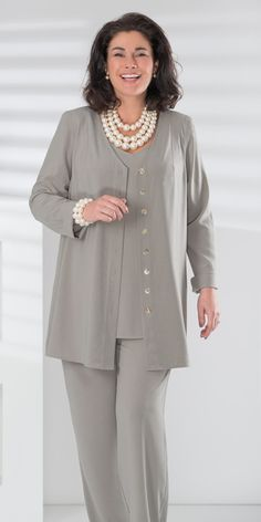 We've gathered our favorite ideas for 2011 Best Images About Modest Pants Fashion For Women, Explore our list of popular images of 2011 Best Images About Modest Pants Fashion For Women. Mature Fashion, Fashion Over 50, Curvy Fashion, Plus Size Fashion, Fashion Pants, Fashion Outfits, Womens Fashion, Modest Pants, Mother Of The Bride Suits
