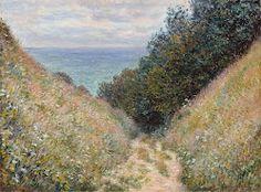 Museum of Fine Arts, Boston    Road at La Cavée, Pourville 1882Details  Claude Monet
