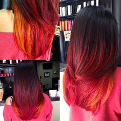 Love these colors for ombre hair Love Hair, Great Hair, Natural Hair Styles, Short Hair Styles, Gorgeous Hair Color, Pompadour, Hair Dos, Pretty Hairstyles, Relaxed Hairstyles