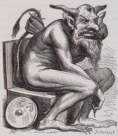Belphegor Belphegor—the Judeo-Christian demon of discoveries, inventions, and laziness—usually appears as a beautiful girl and offers wealth in hopes of driving her victims toward greed and selfishness. Unluckier people will see Belphegor's true appearance: a bearded, horned demon with a perpetually opened mouth and sharp nails, who sits on a toilet throne. That, or a phallus. Belphegor was worshiped by the Moabites on Mount Phegor in the Middle East. Rabbis claimed Belphegor could only be…