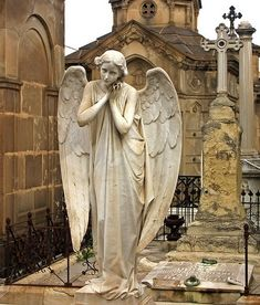 ☫ Angelic ☫  winged cemetery angels and zen statuary -