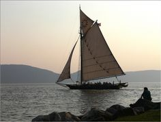 "The sloop ""Clearwater"" on the Hudson. I had the privilege to sail on her while in high school"