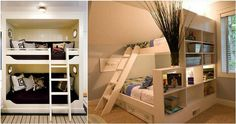 20 Bunk Beds So Incredible, You'll Almost Wish You Had to Share a Room- I like 3. 6. 12. and I think 20 is cute