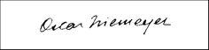 the signature of architect Oscar Niemeyer