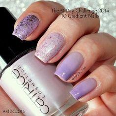 The 31 Day Challenge: Gradient nails #beautybysuzi #purple #lavender #mani #nailart #polish #nails - bellashoot.com
