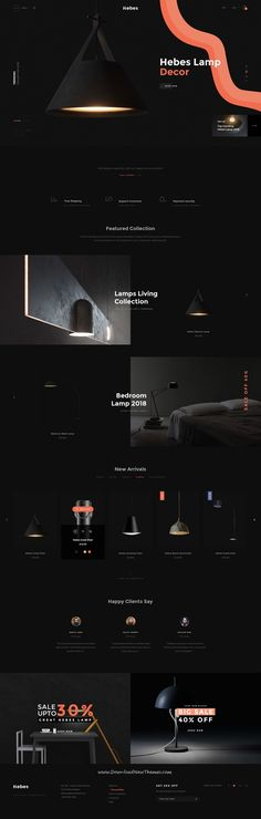 HEBES is clean, stylish and modern design #PSD template for sunning interior, decor, furniture #shop eCommerce #website with 16 niche homepage layouts and 78 layered PSD pages to live preview & download click on Visit