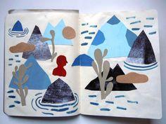 sketchbook by Laurent Moreau Pattern Illustration, Graphic Design Illustration, Graphic Illustration, Collages, Collage Art, Laurent Moreau, Artist Sketchbook, Sketchbook Drawings, Visual Diary