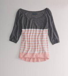 AE Colorblock Stripe Sweater