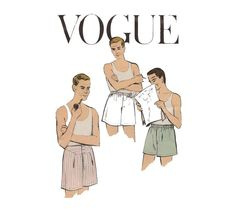 Mens 1950s Boxer Shorts Pattern Vogue 9288 by CynicalGirl on Etsy, $28.00 just in time for Christmas!