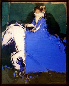 Dama a cabalo con fondo verde Arches by Manolo Valdes