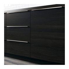 TINGSRYD 2-p door/corner base cabinet set, wood effect black 13x30