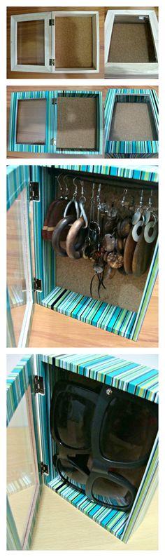 DIY * Jewelry box / Sunglass Storage
